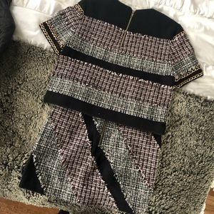 English Rose Tweed Top & Skirt Set